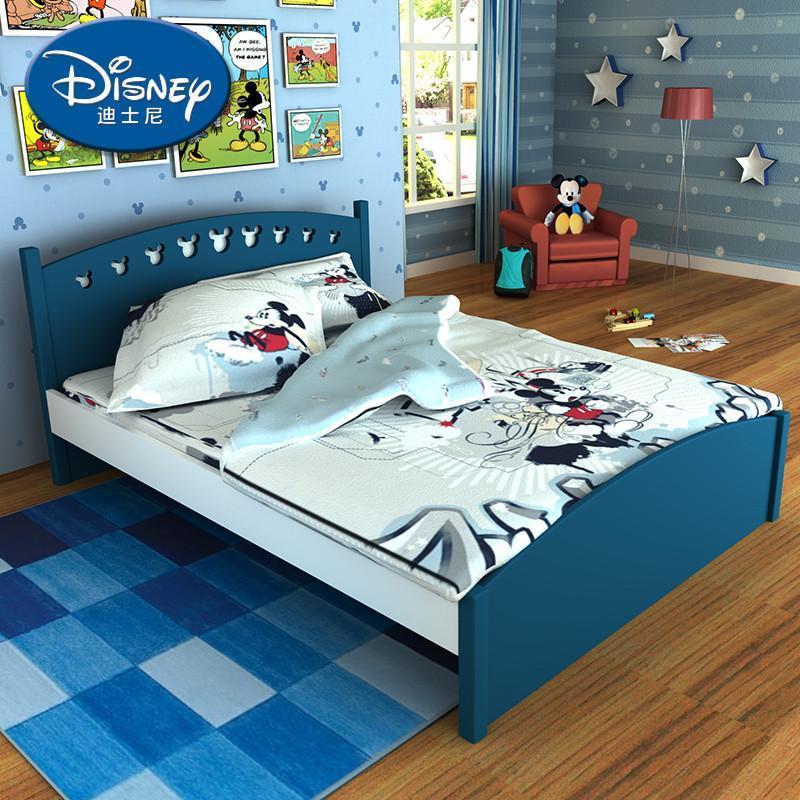 自营迪士尼 酷漫居美式米奇男孩儿童床 单床 多款儿童家具床卡通床 1.