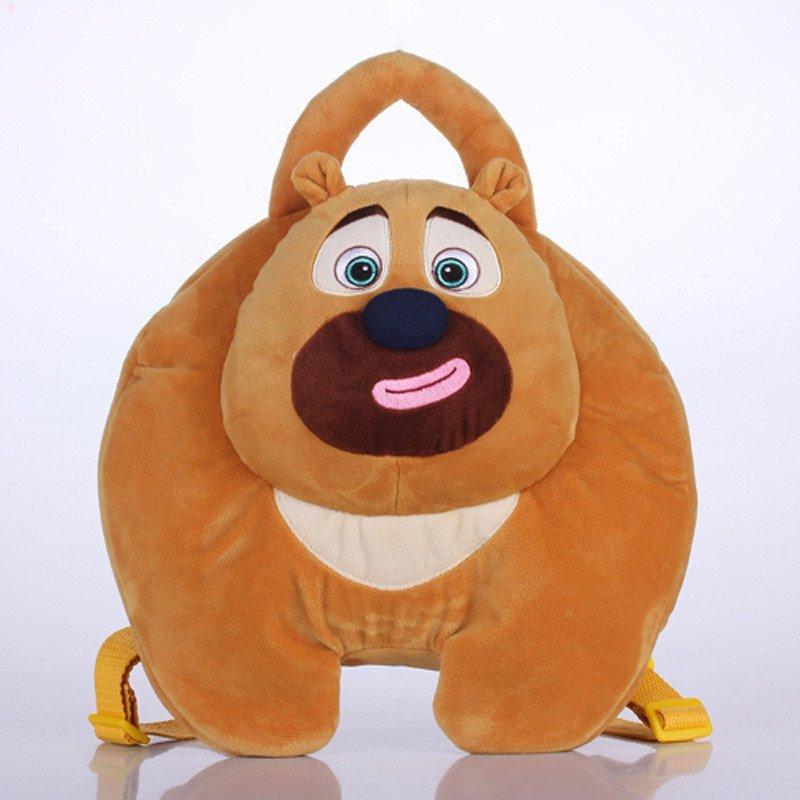 雪岭熊风熊出没少年版卡通背包 熊大熊二毛绒玩具公仔