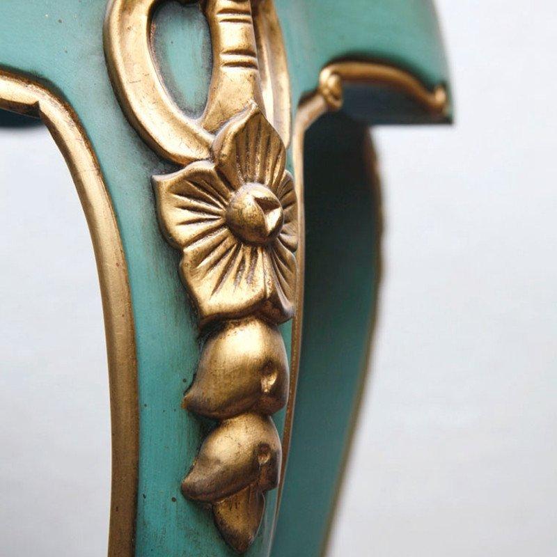高端定制 新古典创意茶几 实木现代简约角几 木质雕刻
