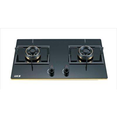 德国UKS厨卫电器钢化玻璃安全易清洁燃气灶具JZT-S040