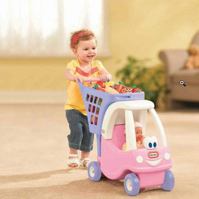 小泰克littletikes 场景玩具儿童手推车 仿真玩具 公主舒适购物车