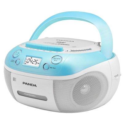 熊猫(PANDA) CD-860 蓝色 DVD/VCD/CD播放机磁带U盘TF卡转录复读CD-850升级版 英语学习机