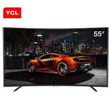 TCL L55A980CUD 55英寸 观影曲面真4K 同步看院线大片 安卓智能LED液晶电视