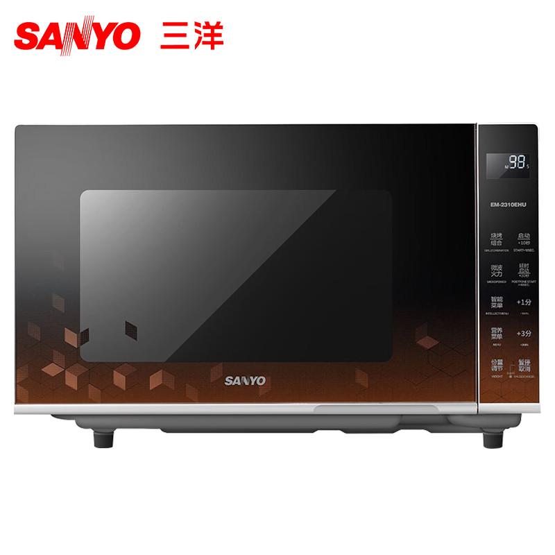 三洋(SANYO) 微波炉 EM-2310EHU 平板 23L 不锈钢内胆 微电脑 烧烤