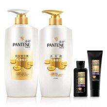 潘婷(PANTENE)乳液修护500ML洗发露洗发水+500ML润发乳护发素(PNT 80SH +80CN)