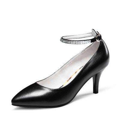 時代風細跟羊皮女單鞋E55610