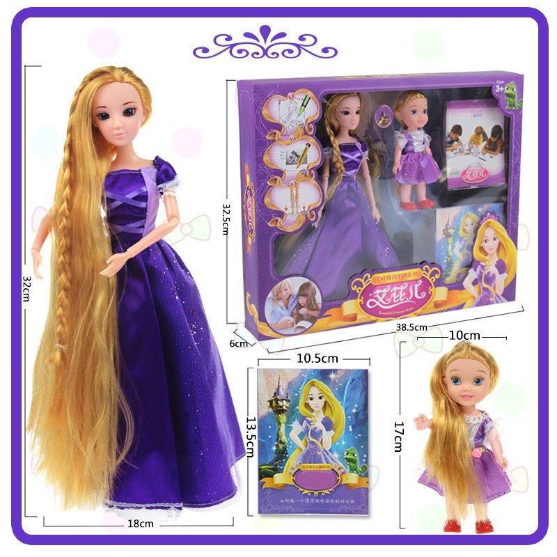 芭比娃娃套装礼盒儿童玩具女孩洋娃娃仿真娃娃讲故事古装长发公主图片