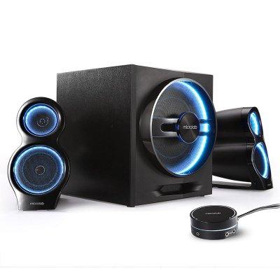 麦博(microlab)多媒体蓝牙音箱T10 蓝牙电脑游戏音箱 音响 低音炮 游戏音箱 木质电脑音箱 黑色