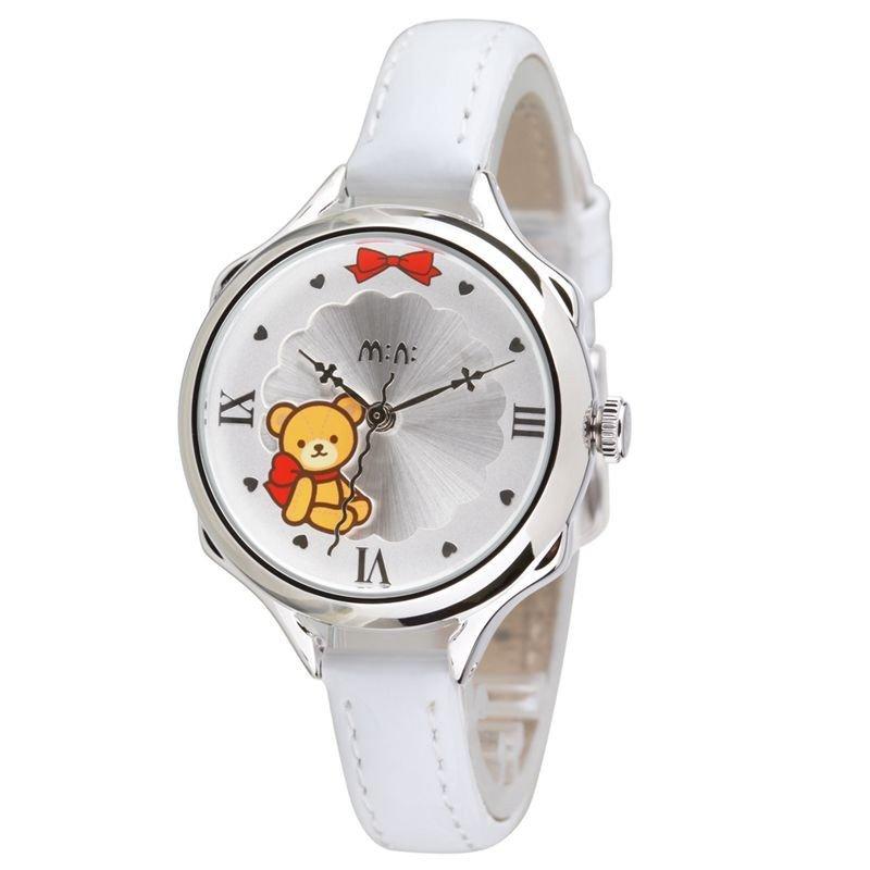 mini韩国石英表 精致纯手工制作 时装表可爱卡通 维尼熊 mn 2011 白色