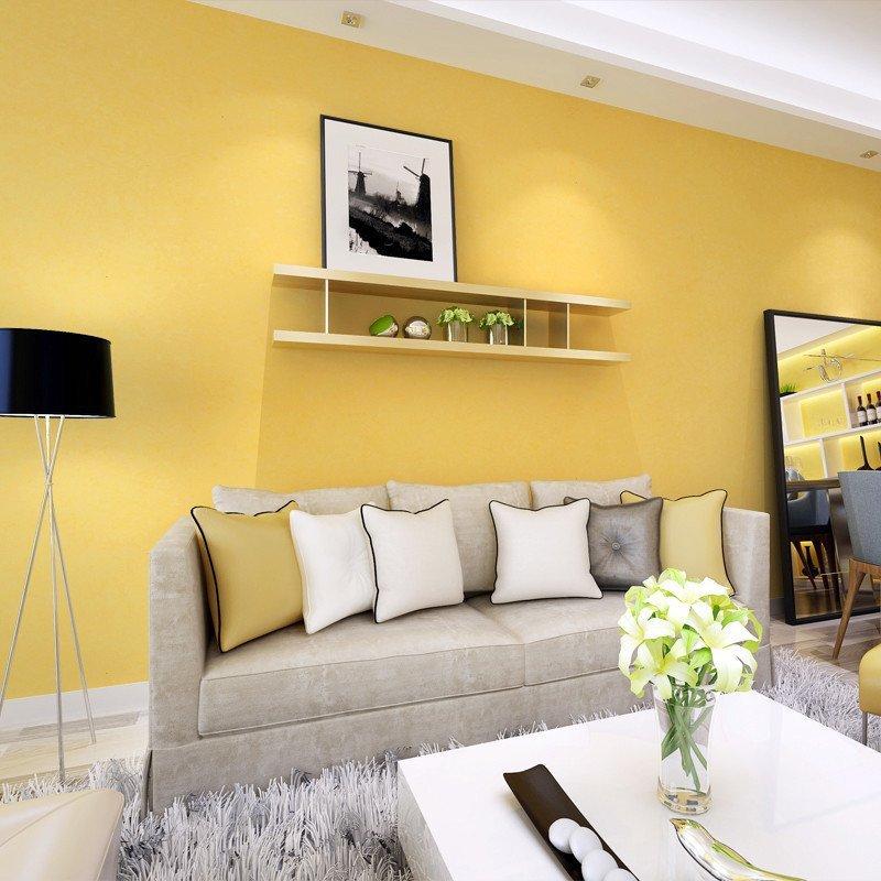 环保蚕丝纯色无纺布墙纸 客厅电视背景墙墙纸非自粘 紫灰色
