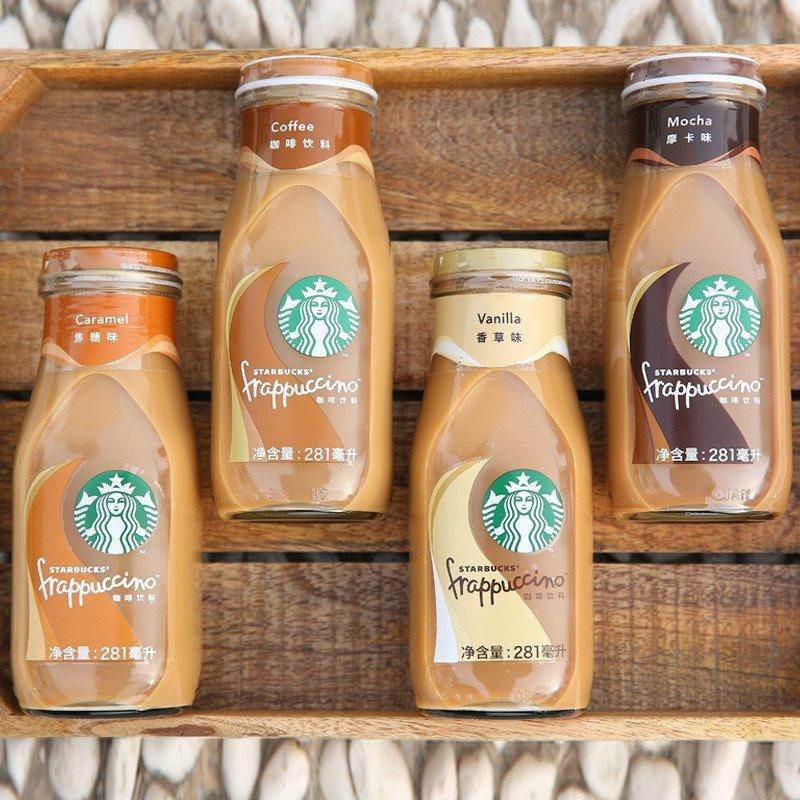 【苏宁超市】星巴克星冰乐焦糖味咖啡饮料281ml瓶装六图片