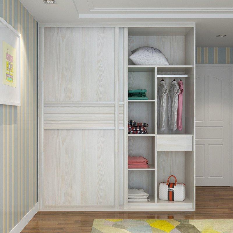 科凡全屋定制现代简约推拉移门整体百叶衣柜 定做卧室