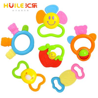 匯樂玩具(HUILE TOYS)寶寶咬咬樂 919 牙膠磨牙可水煮兒童嬰兒玩具手搖鈴