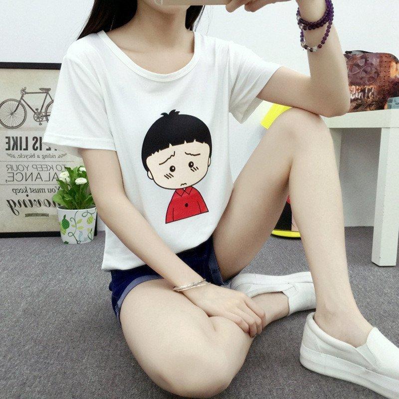 2016t恤女夏季韩国卡通小丸子学生闺蜜装短袖体恤宽松