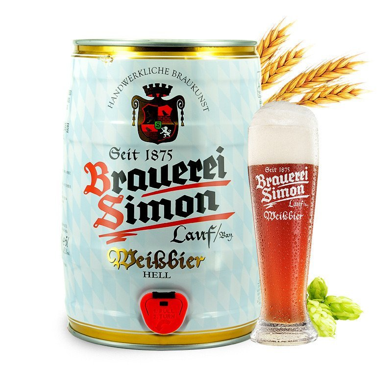 德国 Kaisersimon凯撒西蒙小麦白啤酒5L大桶