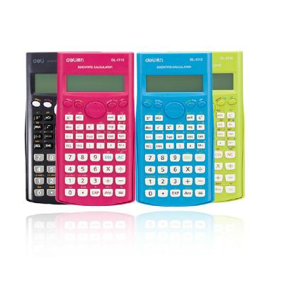 得力(deli) 1710A 函数计算器 学生多功能彩色函数计算机 双行显示 带盖 黑色