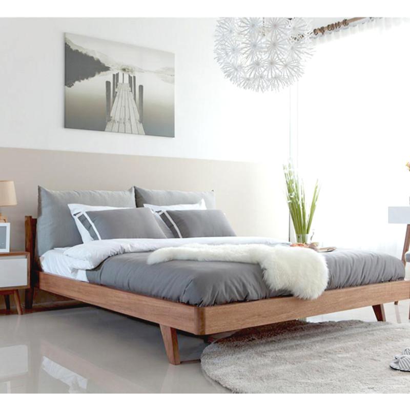 通风地板北欧实木床双人床现代简约日式星星对时间长期开窗小户来自_吗具有家v地板图片