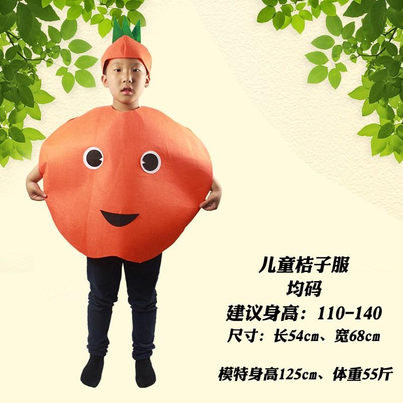 圣诞服儿童水果蔬菜演出服环保衣服儿童手工亲子走秀动物服装 均码