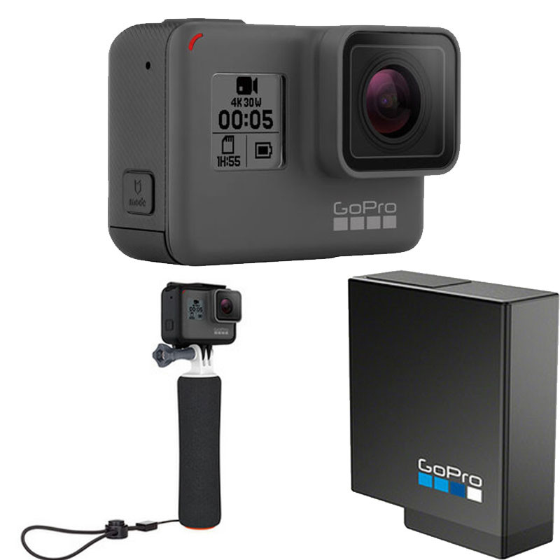 GoPro HERO 5 Black 运动摄像机 4K高清 含漂浮普及版配件套包(电池+可漂浮手柄)