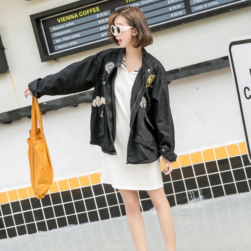 韩雪青青2017#春秋女装欧洲站风衣宽松蝙蝠袖