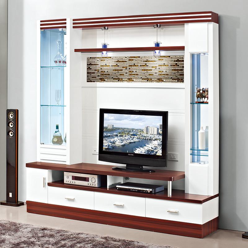 伊莱菲尔 客厅电视背景柜影视柜背景墙柜酒柜电视柜组合柜一体柜长2.