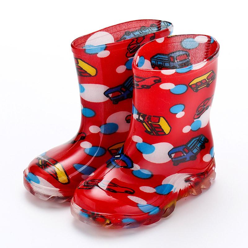 2017新款春季可爱儿童雨鞋卡通雨靴水晶水鞋幼儿宝宝套鞋男童女童可爱