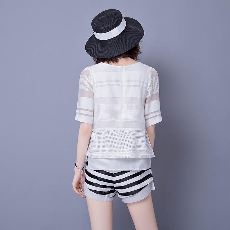 宽松雪纺衫短袖