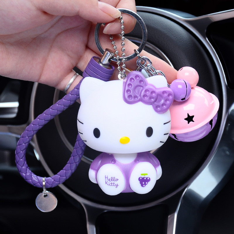 卡通kt猫钥匙扣可爱猫咪公仔汽车钥匙挂件男士女款包包挂饰钥匙链