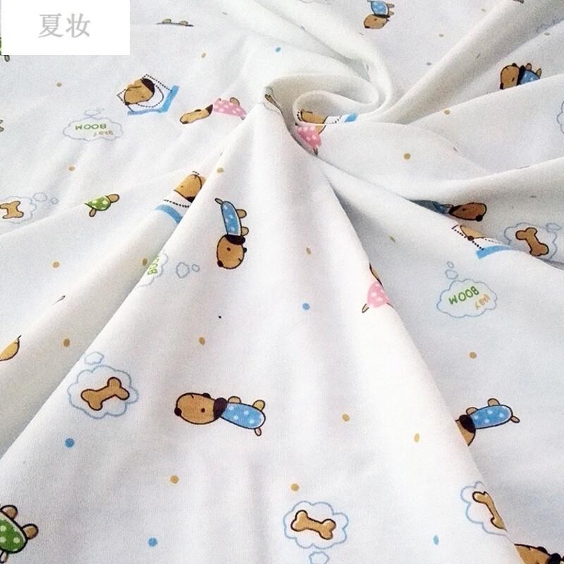 夏妆卡通宝宝布料针织布面料秋衣秋裤布料床单被套_1图片