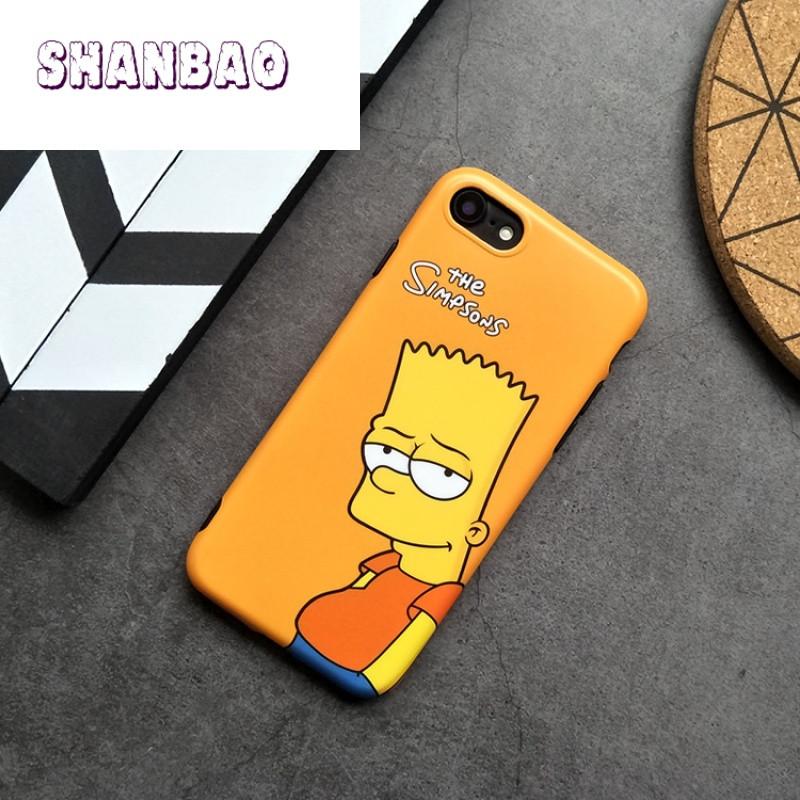 shanbaosupreme潮牌辛普森iphone6s手机壳苹果7plus全包软保护套情侣