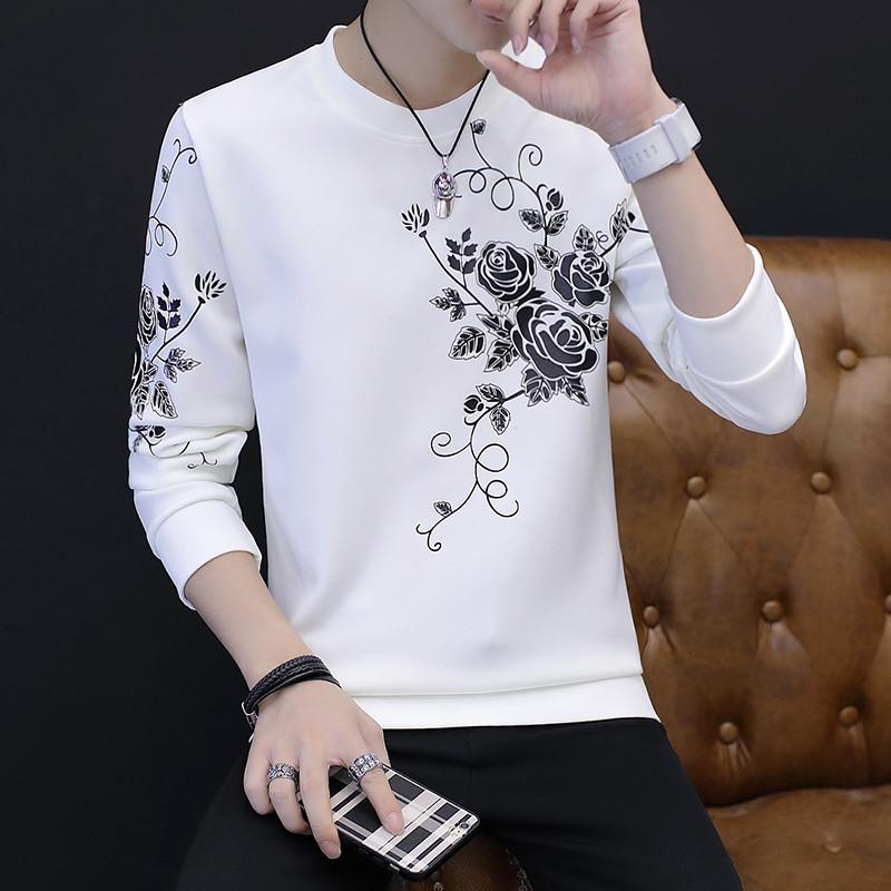 男士小衫_902新款2017新款秋季长袖t恤男士小衫韩版潮流帅气薄款秋衣上衣外穿