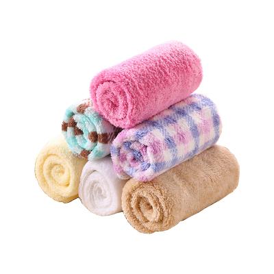 卡伴口Curbblan水巾婴儿宝宝孕婴童毛巾洗脸巾洗澡巾超柔软纤维新生儿小方巾擦汗手帕3条装30*30cm