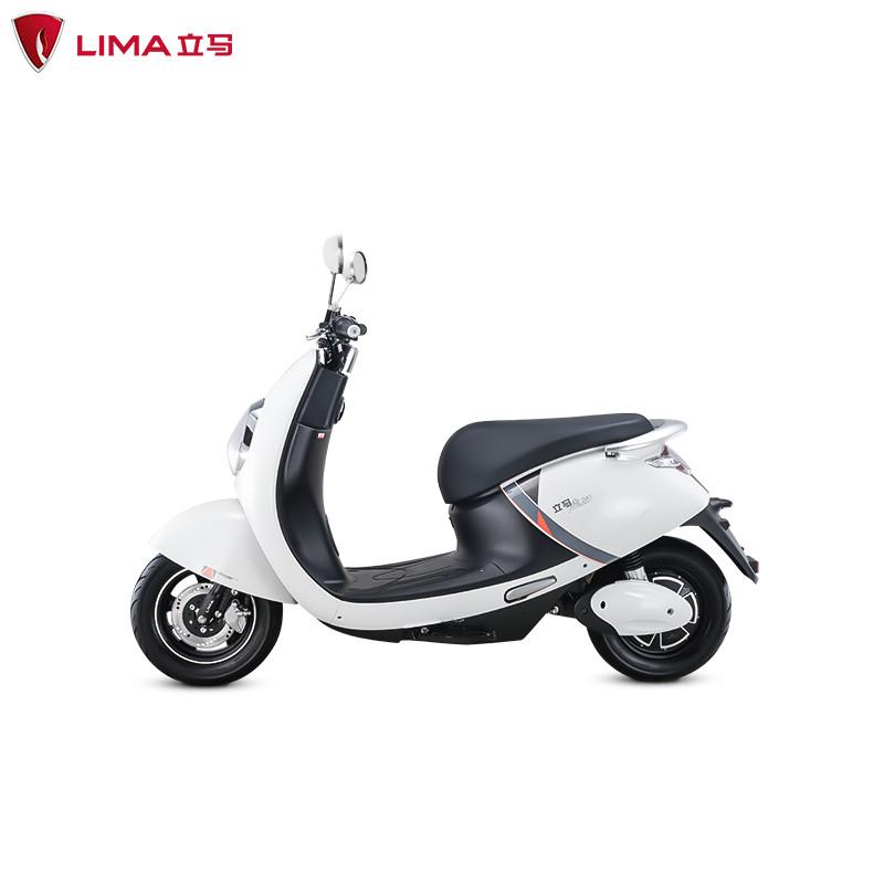 立马电动车 mika都市电动车青春版成人代步便捷两轮电动车 白色60v