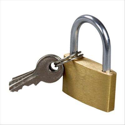 赛拓(SANTO) 薄型铜挂锁约30MM 铜锁 小锁 门锁 箱锁 锁具0053