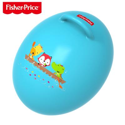 费雪(Fisher Price)儿童玩具球 宝宝健身球 蛋形跳跳球(蓝色 赠充气脚泵)F0706H1