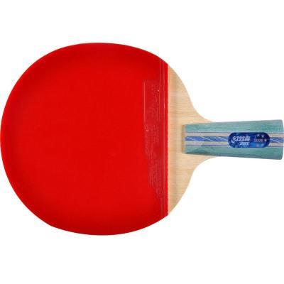 紅雙喜DHS乒乓球成品拍R5006直拍雙面反膠弧圈結合快攻5星單拍(附拍套)