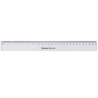齐心(Comix) B3251 30cm直尺10个装 直尺
