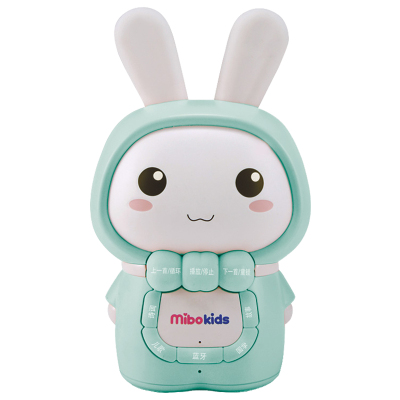 米宝兔(mibokids) 儿童早教故事机 MB06A 哑光绿 宝宝胎教 0-8岁 音乐 益智玩具儿歌播放器婴儿早教机