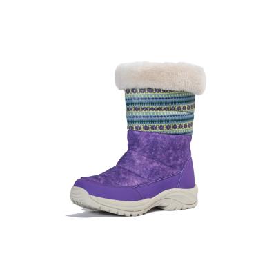 TNTN韩版户外冬季俄罗斯羽绒加绒东北高筒防水女士情侣滑雪地鞋棉靴子