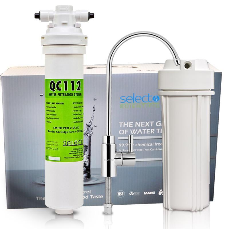 森乐(selecto) qc112 净水器 直饮家用 厨下式 净水机