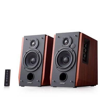 漫步者(EDIFIER)R1700BT 电脑音箱2.0木质低音炮无线蓝牙电视音响 木纹色