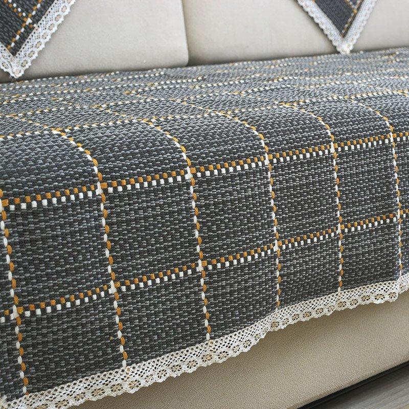 凡轩 四季棉线沙发垫防滑沙发巾编织组合沙发垫布艺时尚夏秋