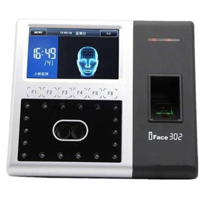 中控智慧iFace302人脸考勤机 人脸一体机打卡网络识别 人脸指纹双识别 高清触摸屏