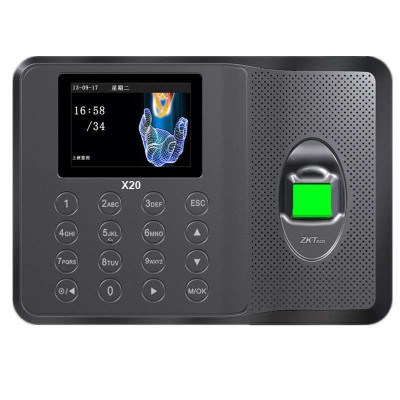 ZKTeco/中控智慧X20科技指紋考勤機指紋式打卡機上班簽到機免軟件打卡器