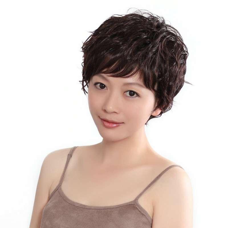 玫瑰雨假发 短卷发 假发短发 女士短发 假发女