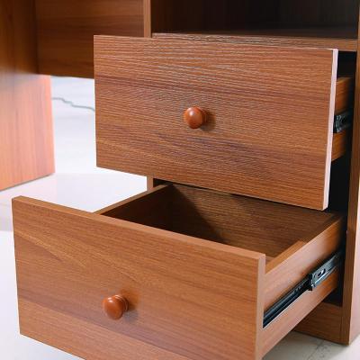 双虎家私 书桌 书柜组合 现代中式写字台/书架 书房成套家具bm1 棕色