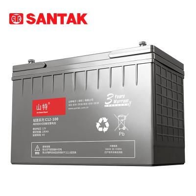 SANTAK 山特 城堡系列C12-100 12V100AH 阀控式铅酸蓄电池 UPS不间断电源使用