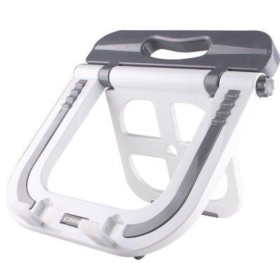 酷奇(cooskin)YDA-001笔记本电脑支架 托架 底座 膝上桌 便携架子 散热器 灰白色