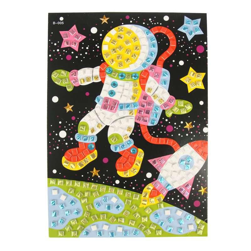 大贸商 3d马赛克立体贴画 卡通手工制作 只售太空宇航