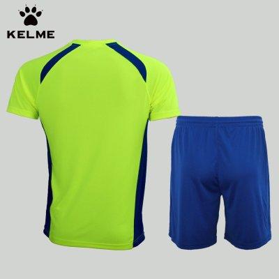 足球服套装男夏组队服正品kelme训练比赛套服210卡尔美定制足球衣服